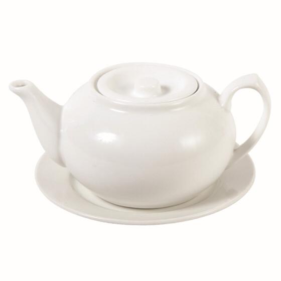 Weiße Teekanne weiße teekanne mit unterteller 3 pers 19 90
